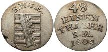 World Coins - GERMAN STATES: Saxe-Weimar-Eisenach 1804-SM 1/48 Thaler