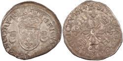 World Coins - FRANCE Henri II 1547-1559 Douzain aux Croissants 1554-S EF