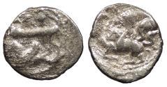 Ancient Coins - Phoenicia Byblos Ainel (Enylus) or Adremelek c. 333-300 B.C. 1/16 Shekel Good Fine
