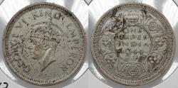 World Coins - INDIA: British Colonial 1944-L George VI Rupee