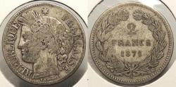 World Coins - FRANCE: 1871-K 2 Francs