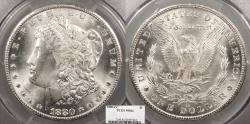 Us Coins - 1880 CC Morgan 1 Dollar (Silver) Reverse of 1879 PCGS MS-64