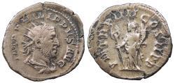Ancient Coins - Philip I 244-249 A.D. Antoninianus Rome Mint Near VF
