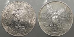 World Coins - MEXICO: 1921-Mo Centennario 2 Pesos