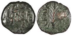 Ancient Coins - Judaea Roman Procurators Porcius Festus, under Nero 59-62 A.D. Prutah Near VF