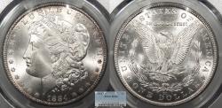Us Coins - 1884 CC Morgan 1 Dollar (Silver) PCGS MS-65