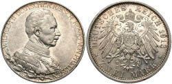 World Coins - GERMAN STATES: Prussia Friedrich Wilhelm II 1913 A 2 Mark