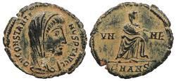 Ancient Coins - Divus Constantine Died 337 A.D. AE4 Antioch Mint Good VF