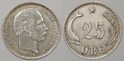 World Coins - DENMARK: 1900 25 Ore