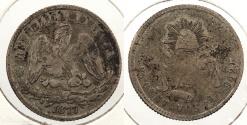 World Coins - MEXICO: 1877-Zs S 25 Centavos