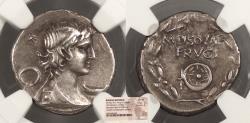 Ancient Coins - M. Piso M.f. Frugi c. 61 B.C. Denarius Rome Mint NGC VF
