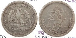 World Coins - MEXICO: 1887-Cn M 50 Centavos