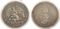 World Coins - MEXICO: 1871-Zs H 50 Centavos