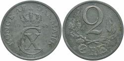 World Coins - DENMARK: 1945 2 Ore