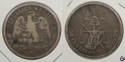 World Coins - MEXICO: 1875-Ho R 50 Centavos