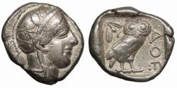 Ancient Coins - Attica Athens After 449 B.C. Tetradrachm VF