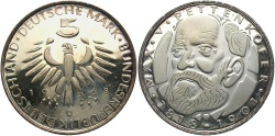 World Coins - GERMANY (WEST): 1968 D 5 Mark