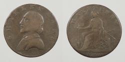 World Coins - GREAT BRITAIN: Warwickshire 1790 Stratford. Halfpenny Conder Token