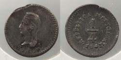 World Coins - MEXICO: 1847/5-SL PI 1/4 Real