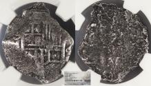 World Coins - MEXICO Philip III or IV (1598-1662) 4 Reales NGC Genuine
