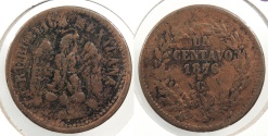 World Coins - MEXICO: Culiacan 1876-Cn Centavo