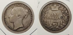 World Coins - GREAT BRITAIN: 1873 Victoria. Shilling