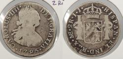 World Coins - PERU: 1795-LIMAE IJ Charles IV 2 Reales