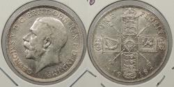 World Coins - GREAT BRITAIN: 1918 George V Florin