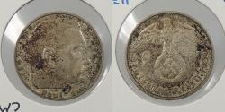 World Coins - GERMANY: 1939-F Hindenburg. 2 Mark