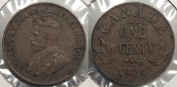 World Coins - CANADA: 1924 Cent