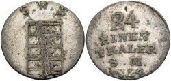 World Coins - GERMAN STATES: Saxe-Weimar-Eisenach 1824 1/24 Thaler