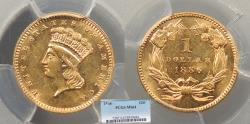 Us Coins - 1886 Indian Head 1 Dollar (Gold) PCGS MS-64