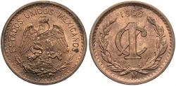 World Coins - MEXICO: 1906-Mo 1 Centavo