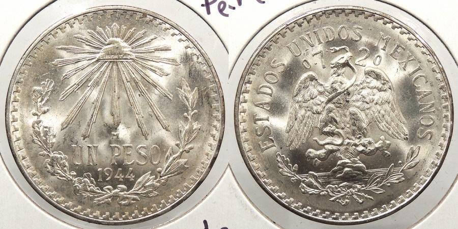 World Coins - MEXICO: 1944-M Peso