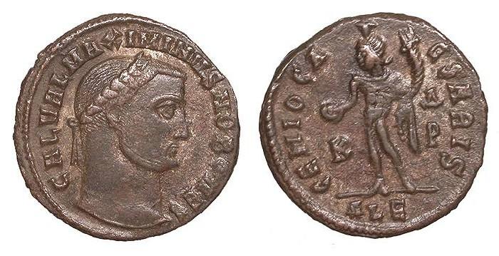 Ancient Coins - Maximinus II, as Caesar 305-308 A.D. Follis Alexandria Mint Good VF