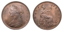 World Coins - GREAT BRITAIN Victoria 1890 Halfpenny UNC