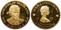 World Coins - SWAZILAND Sobhuza II 1979 2 Emalangeni (Double Gold Crown) Proof
