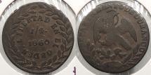 World Coins - MEXICO: Durango 1860 1/4 Real