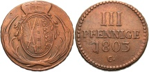 World Coins - GERMAN STATES: Saxony 1803 C 3 Pfennig