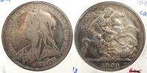 World Coins - GREAT BRITAIN: 1896-LX Crown