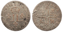 Us Coins - 1711-AA French Colonies 15 Deniers Colonial Coinage EF