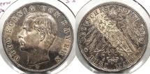 World Coins - GERMAN STATES: Bavaria 1909-D 3 Marks