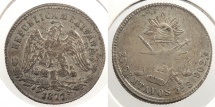 World Coins - MEXICO: 1877-Zs S 25 Centavos