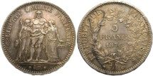 World Coins - FRANCE: 1876 A 5 Francs