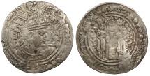 Ancient Coins - Kingdom of Zabul (Zabulistan) Vakhu Deva Circa 720 A.D. Drachm VF