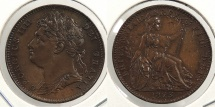 World Coins - GREAT BRITAIN: 1823 Farthing