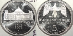 World Coins - GERMANY: Federal Republic 1971-G The German People 5 Mark