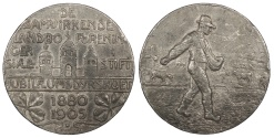 World Coins - DENMARK 1880-1905 Pb 45mm medal EF