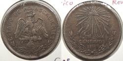 World Coins - MEXICO: Aguascalientes 1915 Revolutionary coinage. 20 Centavos