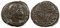 Ancient Coins - Constantine I, the Great 307-337 A.D. Follis Siscia Mint EF